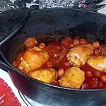recette Mijoté de poulet au saucisses et au chorizo