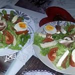 recette Salade du soir au jambon cru