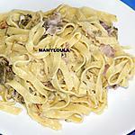recette Tagliatelles aux poireaux et lard fumé