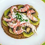 recette Blinis Kiwi langoustines