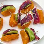 recette Bouchées de kiwis, oranges et magret de canard séché