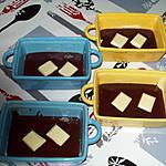 recette Noir choco et son coeur choco blanc