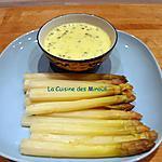 recette Asperges de la Halle d'Antan Crème citronnée à la ciboulette