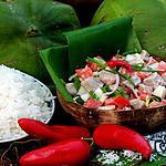 recette Poisson cru au lait de coco a la tahitienne
