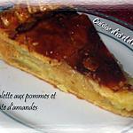 recette Galette aux pommes et pâte d'amandes