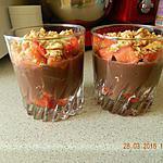 recette Verrines flan au chocolat et fraises