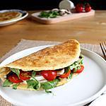 recette Piadine, sandwiches nord-italiens { tomates, mozzarella di bufala, champignons & roquette }