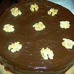 gateau aux noix fourré noix chocolat