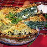 recette Banitsa aux épinards et aux fines herbes