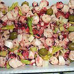 recette SALADE DE POULPE (pour le pique nique de Pasquetta dans le maquis..)