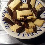 recette Sablés trempés au chocolat