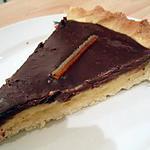 recette Tarte crémeuse à l'orange et au chocolat
