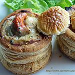 recette Vol au vent au saumon frais et noix de Saint Jacques