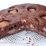 recette Gâteau poires chocolat et noix