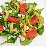 recette Salade de pamplemousse, avocat et noix