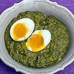 recette Choux verts aux oeufs mollets