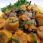 recette Tajine de canard aux abricots et à la  bananes plantain