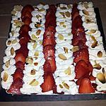 recette Tarte aux fraises-chantilly et amandes