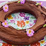 recette Couronne au chocolat et primevères