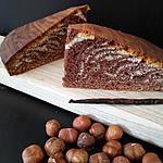 recette Gâteau marbré gianduja vanille