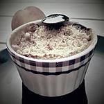 recette Crumble pêche et noix de coco