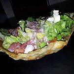 recette Salade composé dans son mini-saladier de parmesan