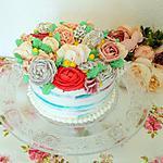 recette Layer cake fleur fraise framboise et thé aux fruits des bois