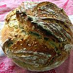 recette Miche aux céréales sans pétrissage - cuisson cocotte