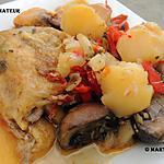recette Poulet chorizo et légumes