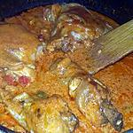 recette Mijoté de poulet au 3 poivrons