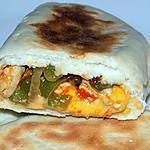recette Naans poulet/poivrons/fromage