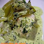 recette Lotte vapeur et sa sauce verte