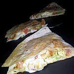 recette Quesadillas au poulet-mozzarella et guacamole