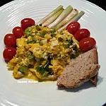 recette Brouillade d'oeufs aux oignons nouveaux