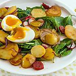 recette Pommes de terre sautées au chorizo et oeuf mollet
