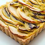 recette Tarte à la crème pommes kiwis