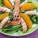 recette Salade de langoustines aux oranges
