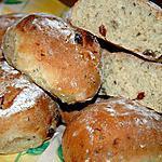 recette Petits pains au lait de soja et raisins de Corinthe