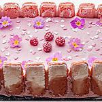 recette Gâteau mousseux aux framboises