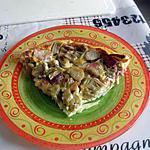 recette Clafoutis à la rhubarbe du jardin, congelée
