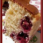 recette Cake au Fromage Blanc et aux Framboises
