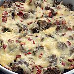 recette Gratin chou-fleur/boeuf et pepperoni (compatible dukan)