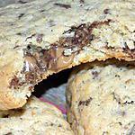 recette Cookies géants coeur praliné