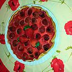 recette Tarte aux fraises  à la barbe à papa