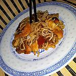 recette Ramen sautées au poulet sauce cantonaise