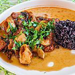 recette Calamars aux tomates et au riz noir
