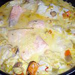 recette Blanquette de poissons au safran