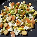 recette Salade du soir au saumon-avocat et mozzarella