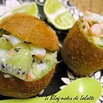 recette Kiwi farci au tartare de mer