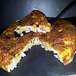 recette Tortilla de pommes de terre au jambon-mozzarella